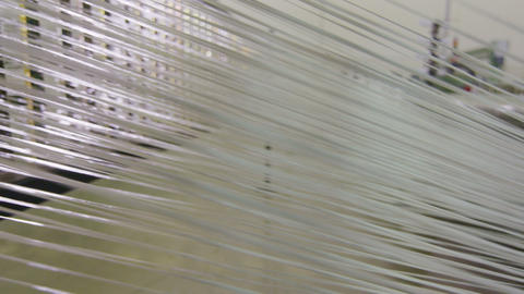 close view synthetic fiber threads move as wall GIF