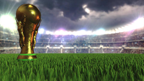 3d animation world cup in stadium GIF