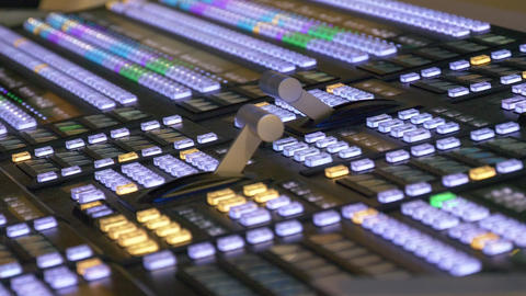 Professional modern broadcasting console Footage