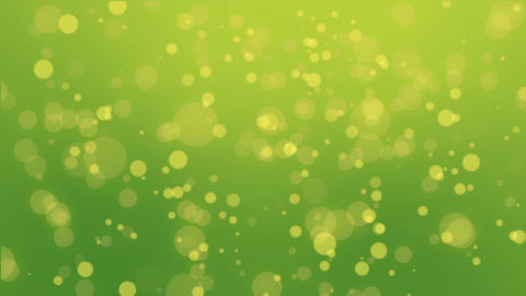 Colorful green yellow particle background Animation