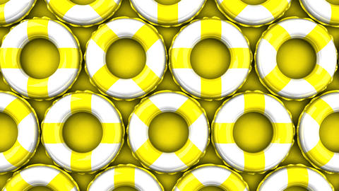 Yellow swim rings on yellow background Animation