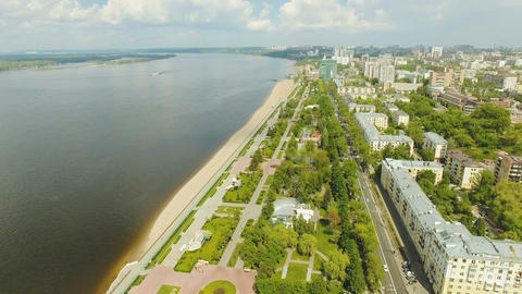 Aerial view of Samara city ビデオ