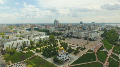 Aerial view of Samara city Footage
