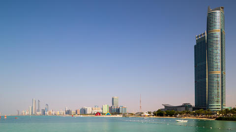 day light time lapse from abu dhabi bay Footage