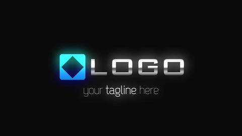 Glow HUD Loading Dynamic Logo Reveal Infographic Design Black White Animation After Effects Template