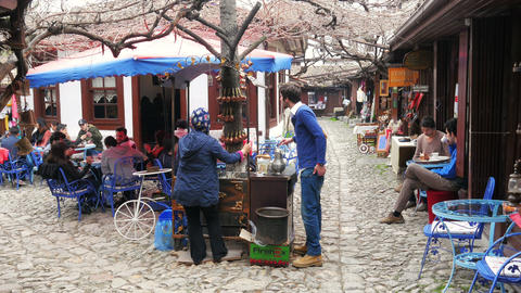 SAFRANBOLU, TURKEY - MAY 2015: Traditional Ottoman marketplace Live Action