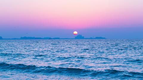 sunset ocean 4k time lapse from dubai city Footage