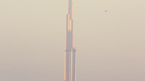 gold light burj khalifa 4k time lapse Footage