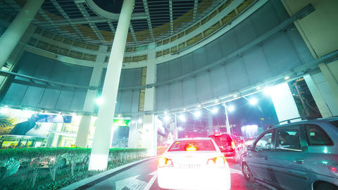 trip from parking to city time lapse from dubai Footage