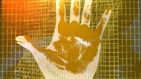 Human hand fingerprint people scan Live Action