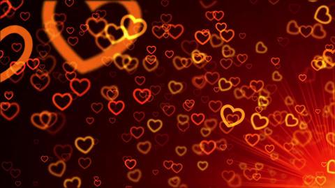Love hearts valentine symbol shape Footage