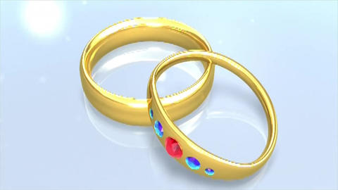 Marriage rings gold love wedding Footage