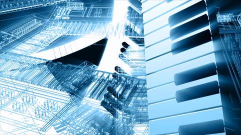Music keyboard keys instrument Live Action