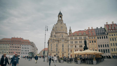 DRESDEN, GERMANY - MAY 2, 2018. Frauenkirshe or Church of Our Lady at Neumarkt GIF