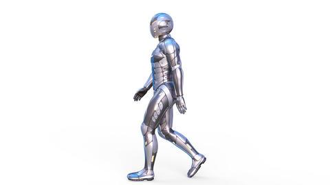Cyborg Walk Animation