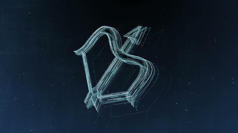 Zodiac signs Sagittarius and beautiful background for presentations, video 애니메이션