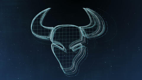 Zodiac signs Taurus and beautiful background for presentations, video intro, 애니메이션