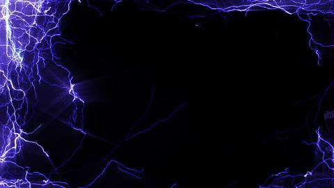Lightning_Side_BG Stock Video Footage