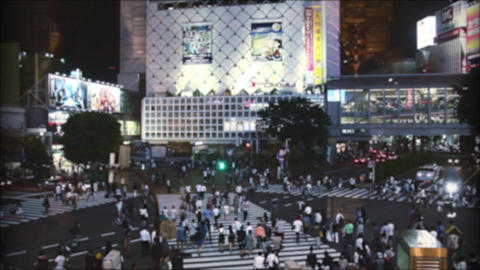 Shibuyas crossing high angle view Live Action