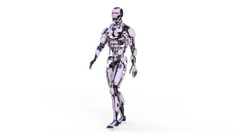 Robot Walk Animación
