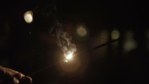 Bengal lights in people's hands Footage