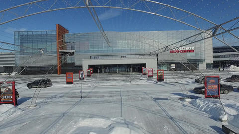 Novosibirsk.Expocentre. Exhibition centre Footage