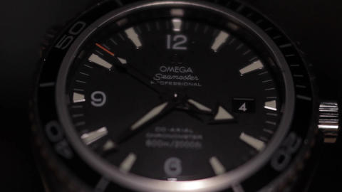 Omega vintage Seamaster 300 Professional diver watch. Swiss OMEGA watches Footage