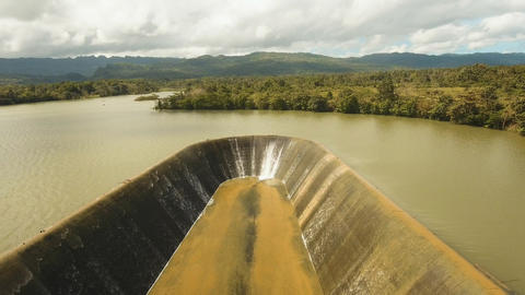 Aerial view dam on the lake, Bohol, Philippines Photo