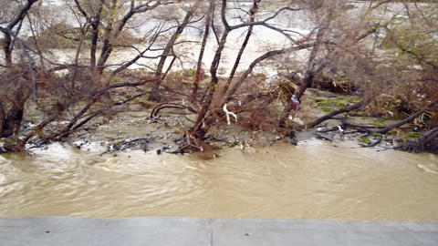 Flood Damage In Los Angeles River GIF