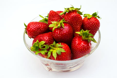 Strawberry isolated on white background. Clipping Path Photo