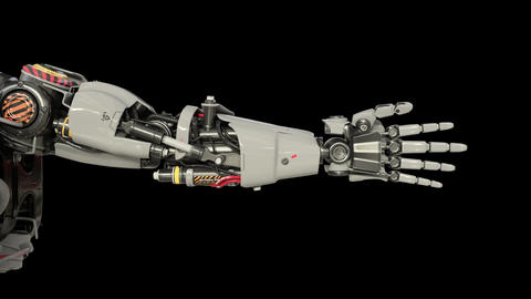 Bionic Arm showing its functionality Animación