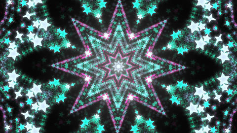 Abstract kaleidoscope background with bright details and elements フォト