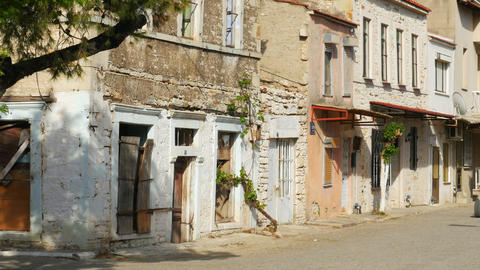 YENI FOCA, TURKEY - MAY 2015: traditional houses, travel destination Live Action
