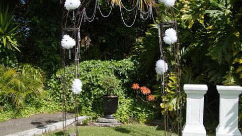 Shot of a beautiful garden wedding venue Photo