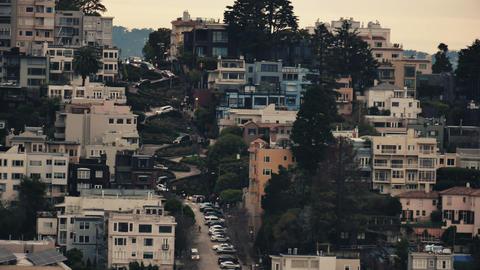 Lombard Street in San Francisco Footage
