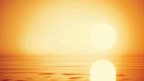 Close-up of colorful sunrise/sunset golden sky texture background CG動画素材