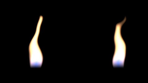 Close-up of colorful bright flickering candle animation on black background Animation