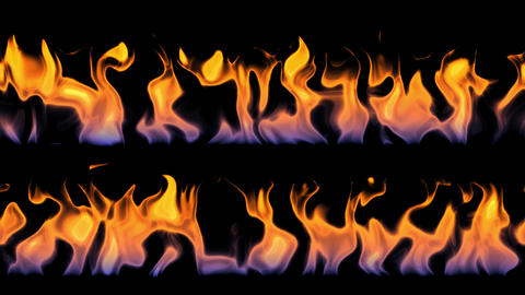 Close-up of colorful bright fire animation effects on black background 애니메이션
