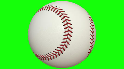 Close-up of colorful 3D baseball on a chroma key background Animation