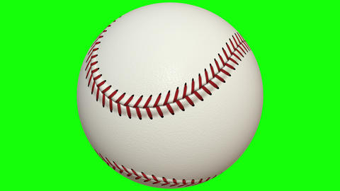 Close-up of colorful 3D baseball on a chroma key background Stock Video Footage