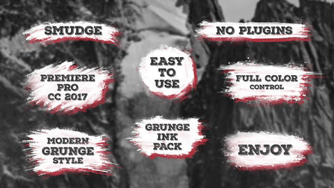 Smudge. Grunge Ink Titles Premiere Pro Template