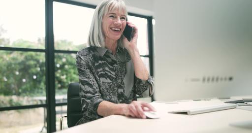 Senior businesswoman multitasking technology Footage