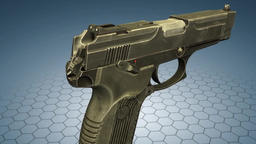A handgun is a short-barreled firearm designed to be fired with only one hand ビデオ