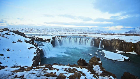 footage of godafoss in iceland Footage