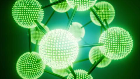 loop atom model on colored background Footage