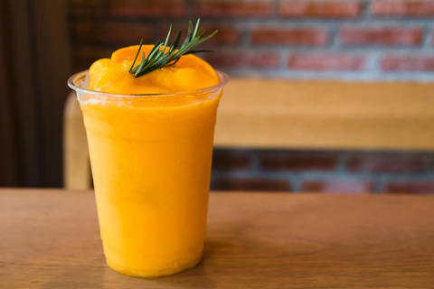 Fresh mandarin smoothie Photo