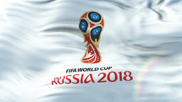 World Cup Russia 2018 Animated Flag, Loop ready n 4K Animation