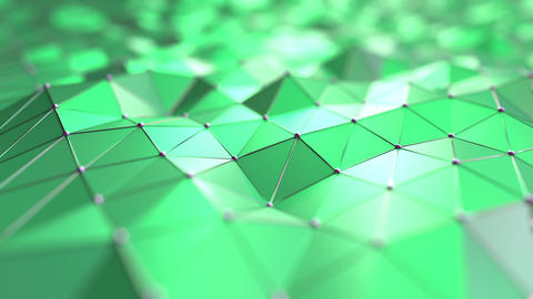 Moving abstract green polygons Footage