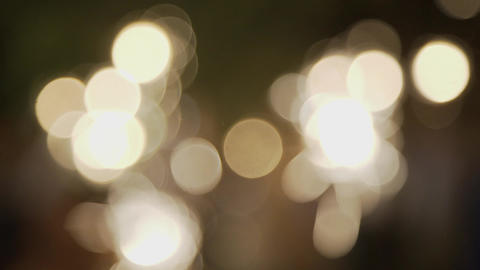 Moving bokeh lights - abstract animation for background - circles of light Footage