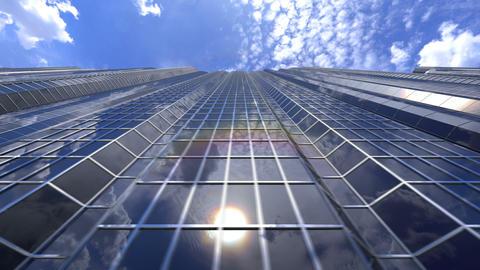 Beautiful skyscrapers loop GIF